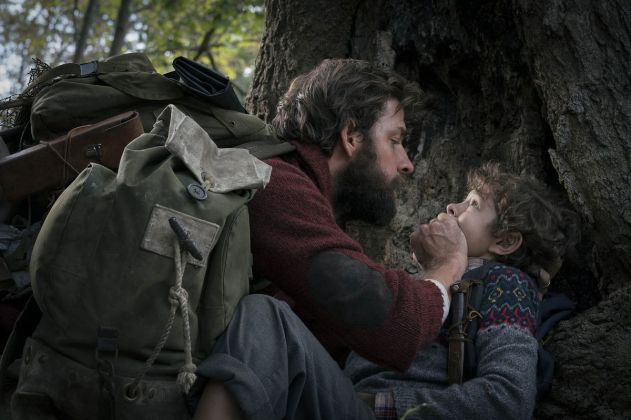 A Quiet Place - Father protecting his son