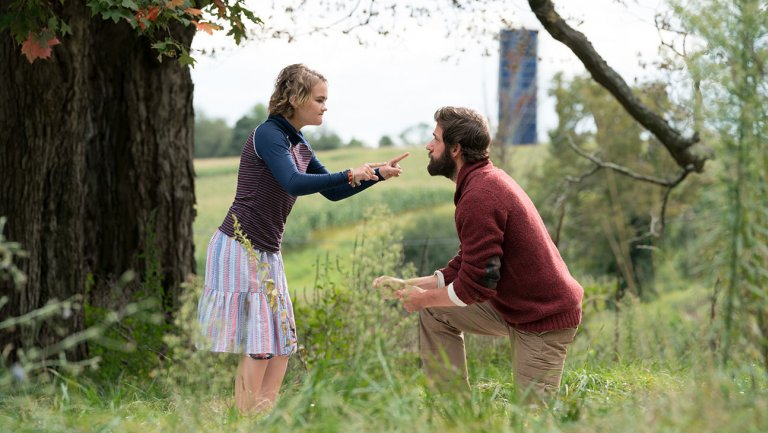 A Quiet Place - Father talking with his daughter