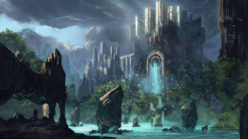 A fantastic, imaginary world in Knightmare Arcanist by Shami Stovall