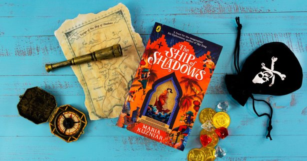The Ship of Shadows by Maria Kuzniar is full of magic, books, jewels, and shadows.