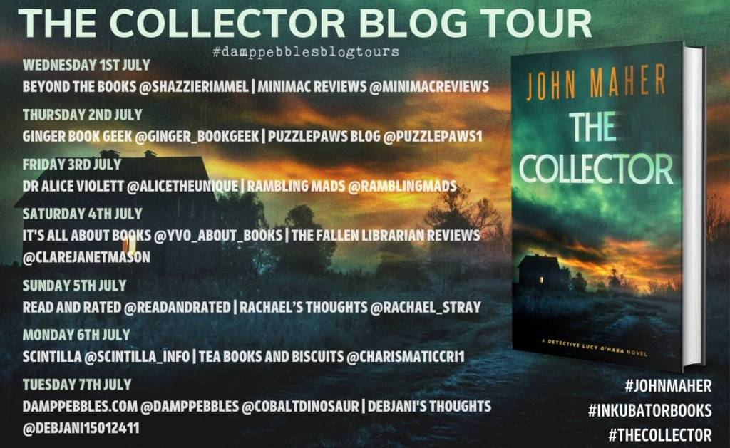 The Collector by John Maher Blog Tour banner