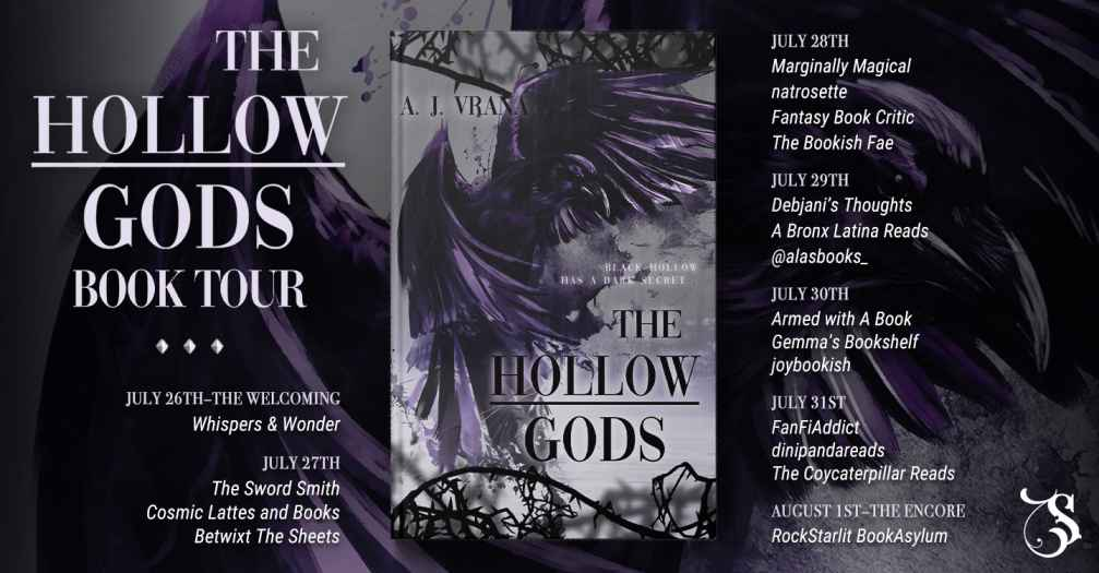 Blog Tour Schedule for The Hollow Gods by A. J. Vrana