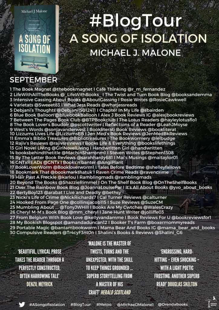 A Song of Isolation by Michael J. Malone - Blog Tour