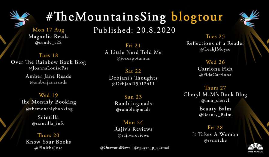 The Mountains Sing by Nguyễn Phan Quế Mai - Review, Blog Tour & book cover