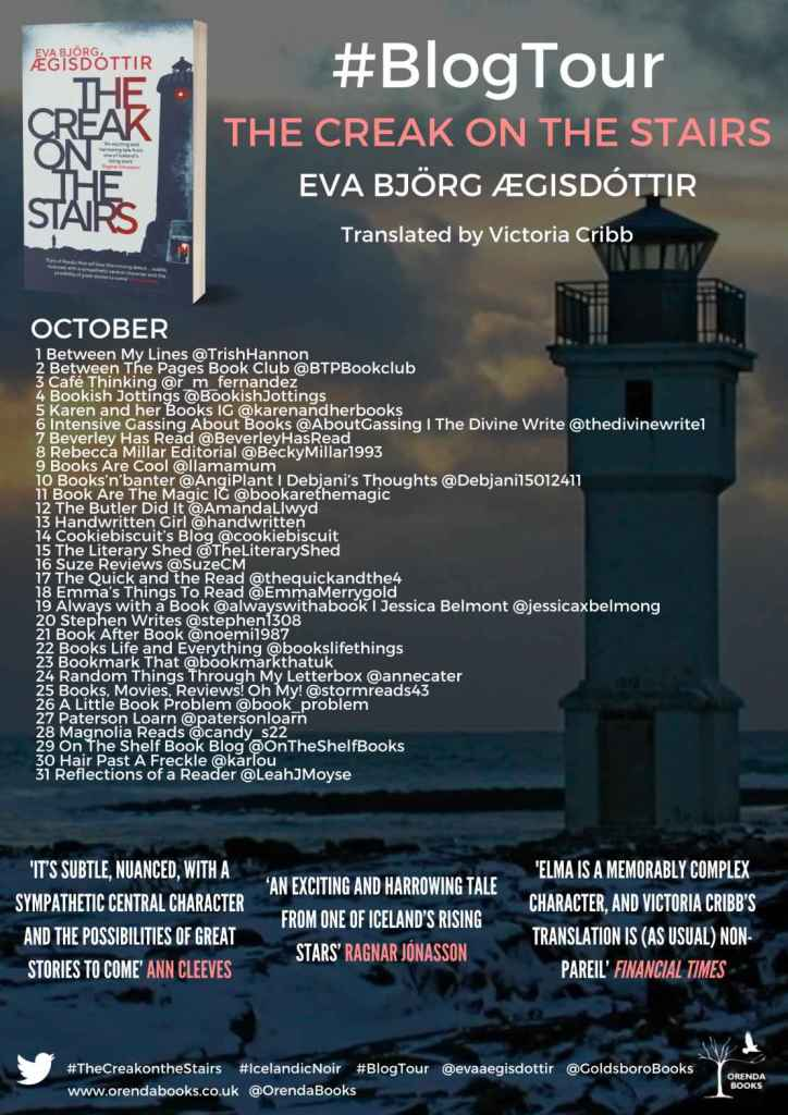 The Creak on the Stairs by Eva Bjorg AEgisdottir - Review | Blog Tour