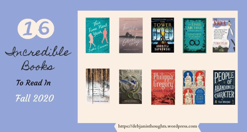 16 Incredible Books To Read in Fall 2020 blog graphic