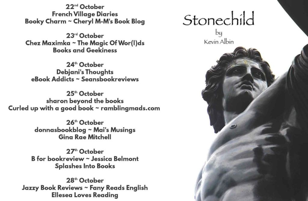 Blog Tour schedule for Stonechild by Kevin Albin