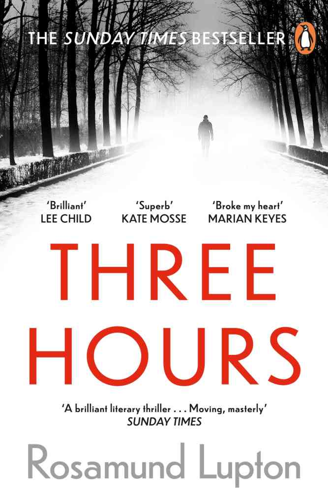 Three Hours by Rosamund Lupton - book cover