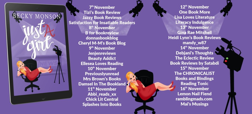 Just A Girl by Becky Monson blog tour schedule