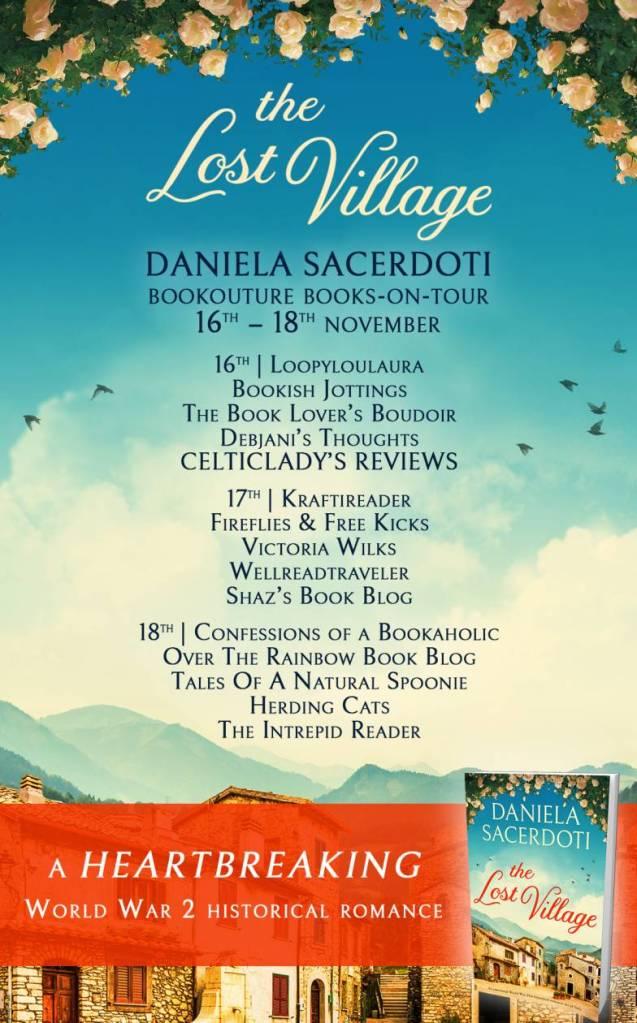 The Lost Village by Daniela Sacerdoti -  Blog Tour schedule