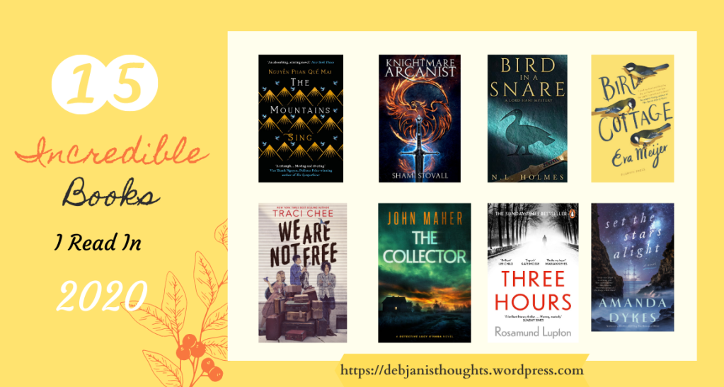Fifteen Incredible books I read in 2020 - Debjani's Thoughts Book blog