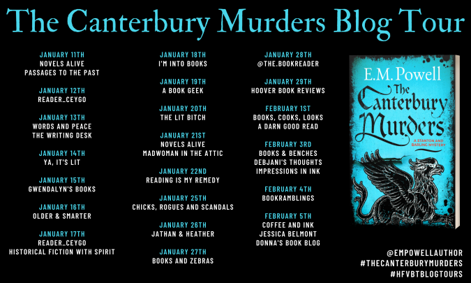 The Canterbury Murders by E.M. Powell - Review | Blog Tour