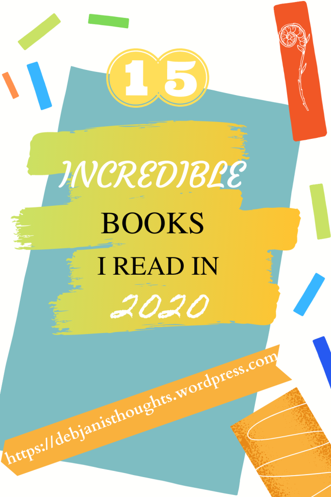 Fifteen Incredible Books I Read in 2020 - pinterest pin
