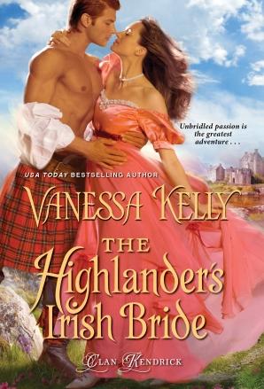The Highlander's Irish Bride by Vanessa Kelly book cover